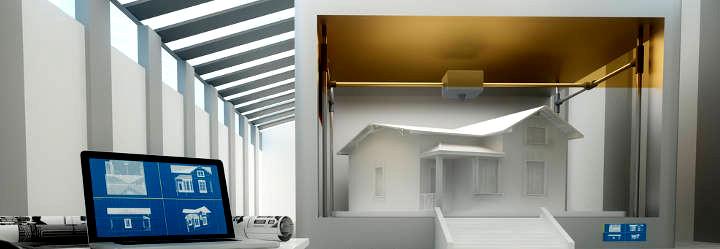 Ein Haus aus dem 3D-Drucker